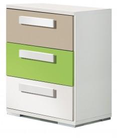 Mesita 3Cj [KC] 51x42x35 Blanco/verde/moka
