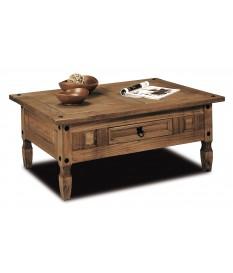 Mesa de centro de madera rustico mejicano