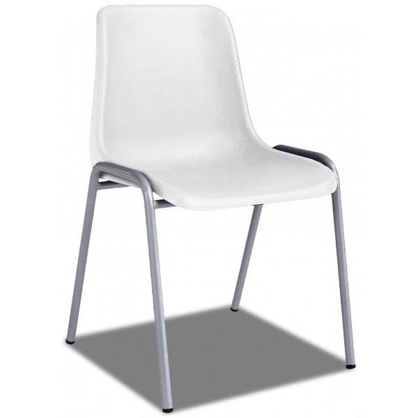 Silla apilable asiento mueble despacho - Silla despacho blanca ...