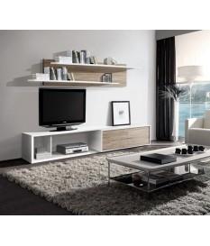 Mueble Apilable de Salón Portland Blanco/Roble